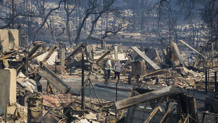 Imagen después del fuego de Santa Rosa